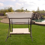 MA680- 3 Seat Outdoor Porch Swing with Stand