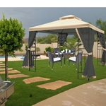 MA810- 10 Ft. W x 10 Ft. D Steel Gazebo with Mosquito Netting