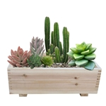 "MA510 - 10"" x 16"" Dual Purpose Cedar Garden Planter Box & Storage Box (Set of 2)"