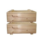 "MA511 - 10"" x 16"" Cedar Storage Box w./ Lid (Set of 2)"