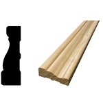 "MA127 - 5/8"" x 2"" x 7' Pine FJ Casing Moulding - Unfinished"