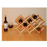 MA330 - 8 Bottle Bamboo Tabletop Wine Rack