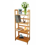 MA333 - Multi-functional 4 Tier Bamboo Bookcase