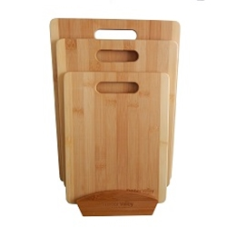 MA311 - Bamboo 3-piece Cutting Board Set with Stand